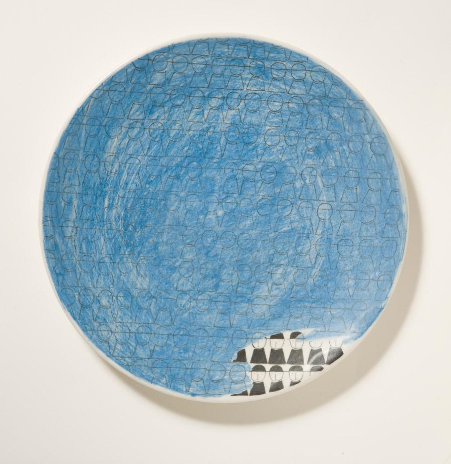 Piatto in ceramica dipinti a mano, Napoli 1946–48