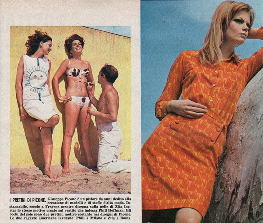 Tuniche pubblicate sulle riviste dell'epoca